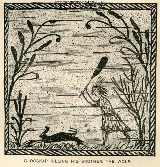 Glooskap Killing His Brother, The Wolf, ca. 1884