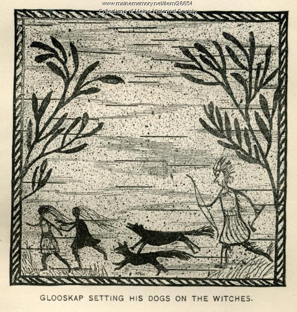 Glooskap Setting His Dogs on the Witches, ca. 1884