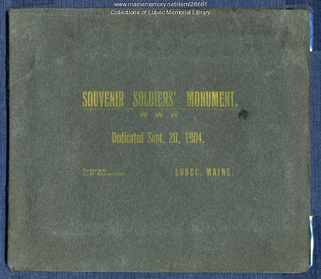 Soldier's Monument Dedication program, Lubec, 1904