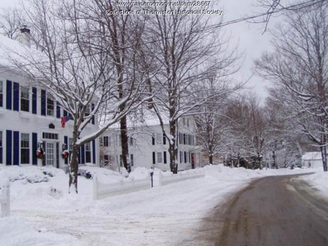 South side of the Main Street Mall, Thomaston, Maine 2008