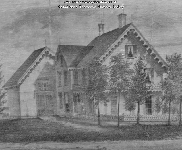 Edward O'Brien House, Main Street, Thomaston, Maine 1855
