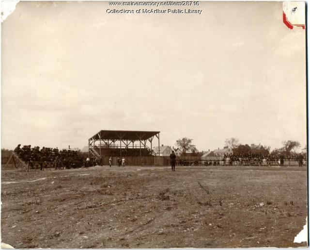 Baseball game, Prospect Park, Biddeford, ca. 1910