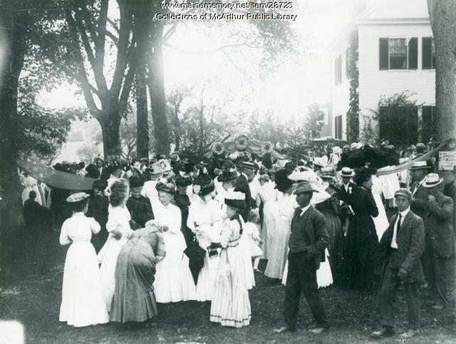 Dorcas Society Fair, Hollis, 1911