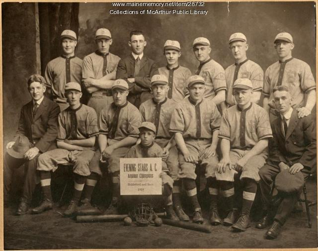 Amateur champion baseball team, Evening Stars, Biddeford-Saco, 1919