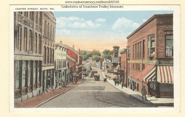 Center Street, Bath, ca. 1910