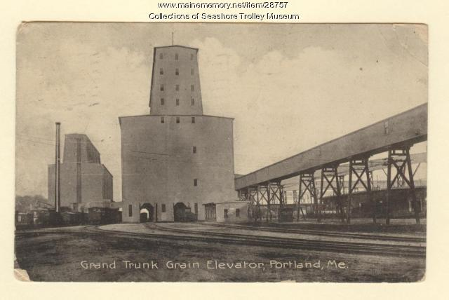 Grand Trunk Grain Elevator, Portland, ca. 1908