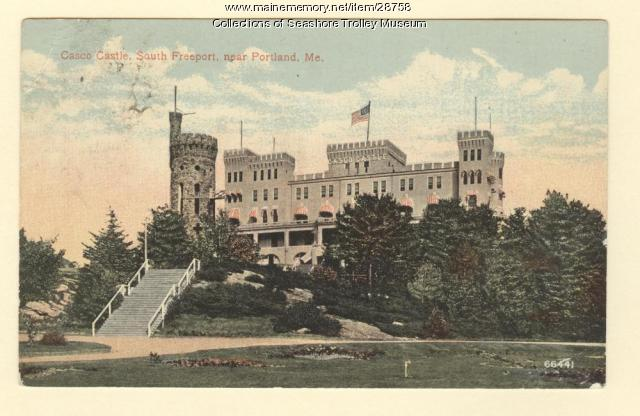 Casco Castle, South Freeport, ca. 1910