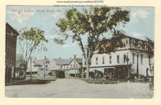Market Square, South Paris, ca. 1910