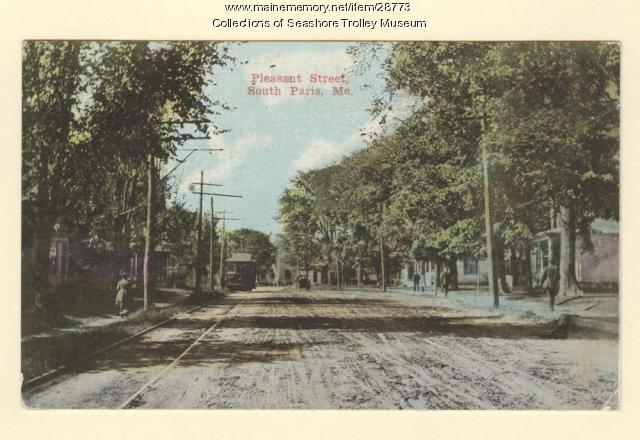 Pleasant Street, South Paris, ca. 1913