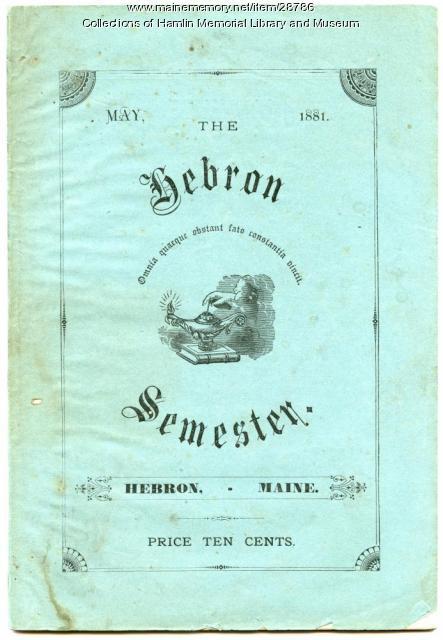 The Hebron Semester, 1881