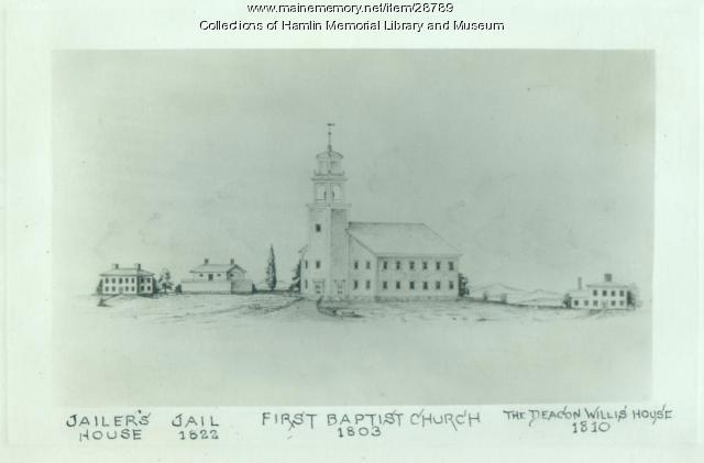 Paris Hill Common as it looked ca. 1822