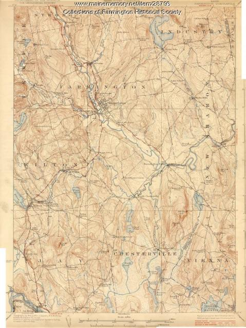 United States Geological Survey (USGS) Topographical Map of Farmington 1920 and 1922