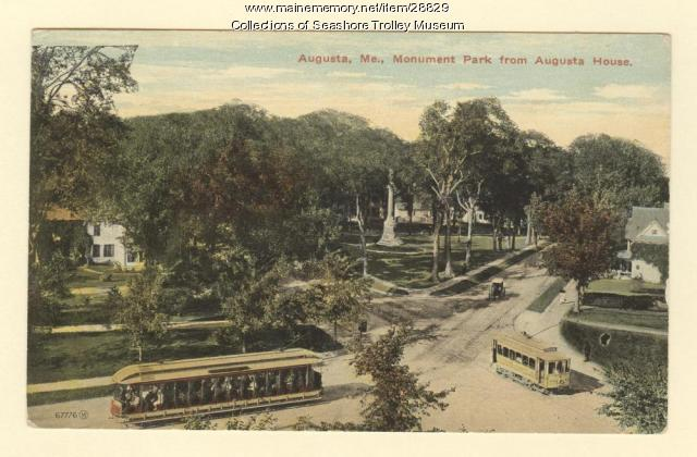 Augusta, Monument Park from Augusta House, ca. 1910