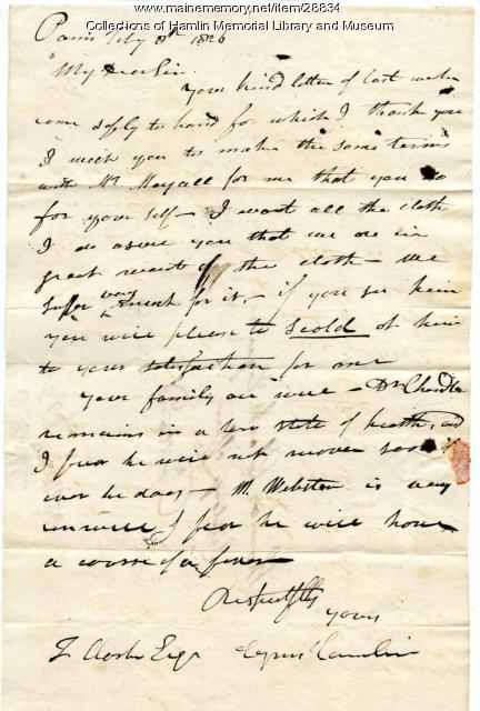 Cyrus Hamlin to Thomas Clark, 1826