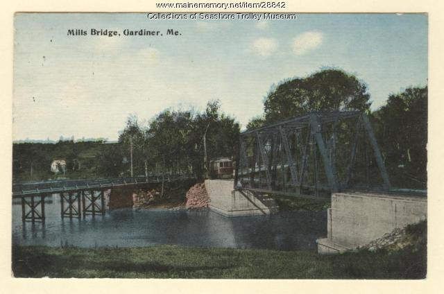 Mills Bridge, Gardiner, ca. 1910