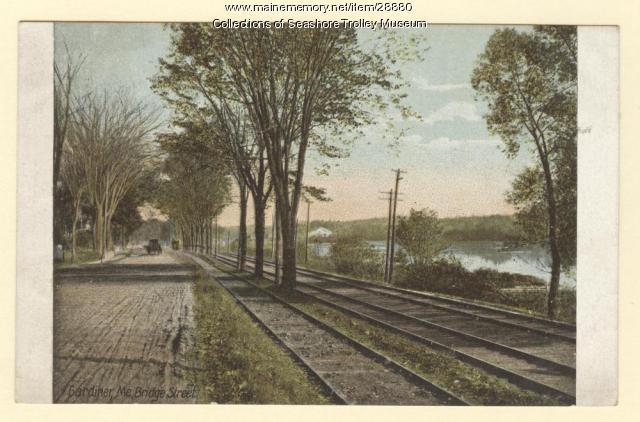 Bridge Street, Gardiner, ca. 1920