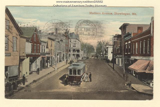 Madison Avenue, Skowhegan, ca. 1917