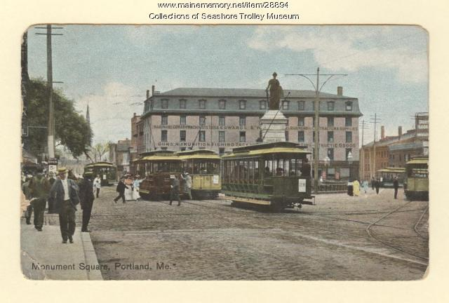 Monument Square, Portland, ca. 1908