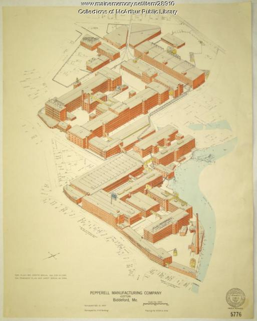 Pepperell Manufacturing fire insurance map, 1929