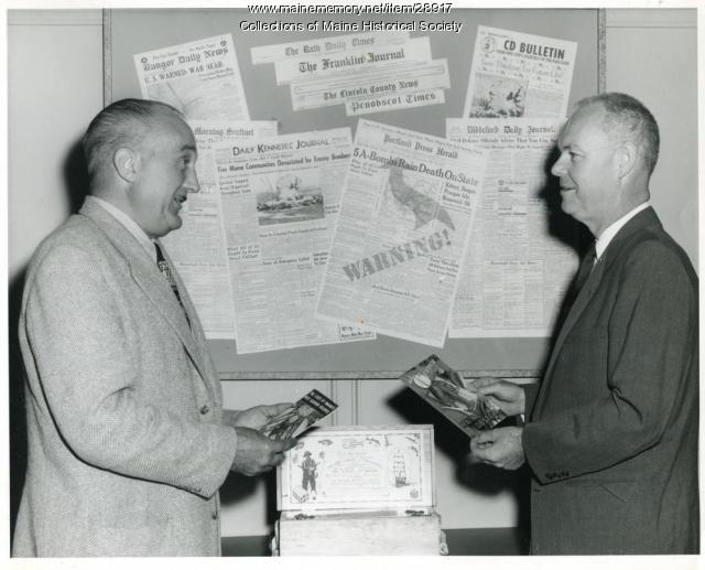 Civil Defense newspapers, 1958