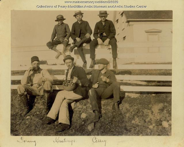 Bowdoin group at Negro Island Harbor, Nova Scotia, 1891