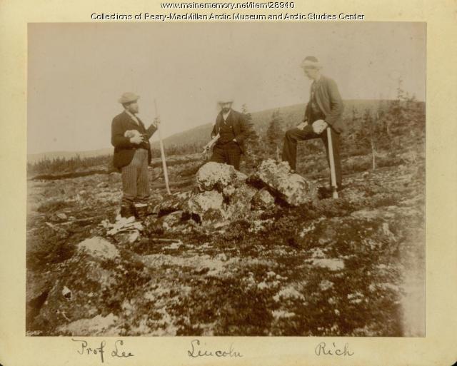 Exploring an Inuit grave on Eskimo Island, Labrador, 1891