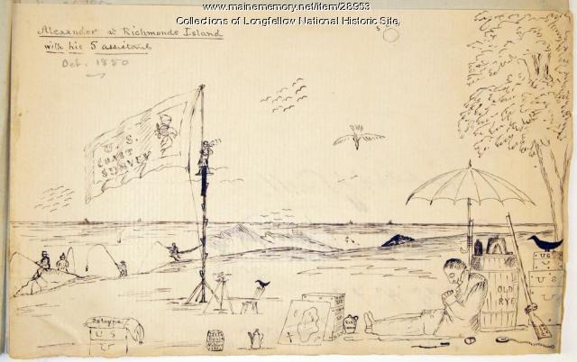 On Richmond Island, Cape Elizabeth, 1850