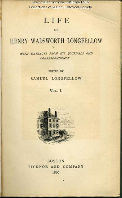 Title page of Life of H.W. Longfellow, 1886