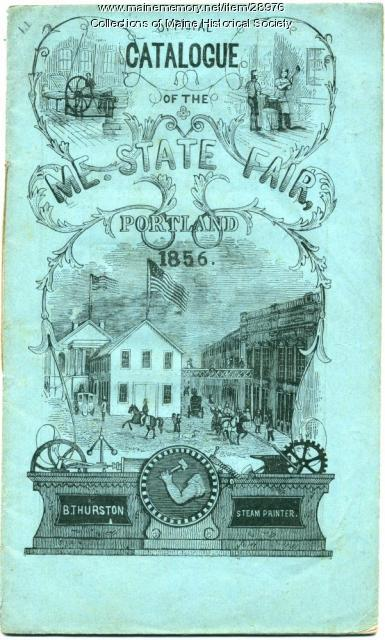 Catalog of Maine State Fair, Portland, 1856