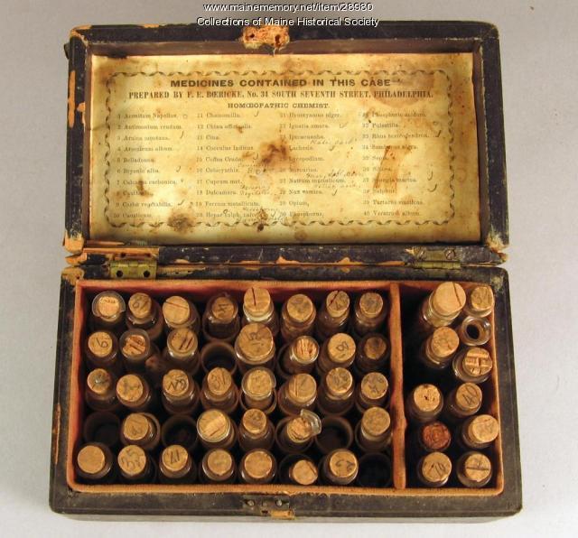 Homeopathic Medicine Box, Fryeburg, ca. 1850