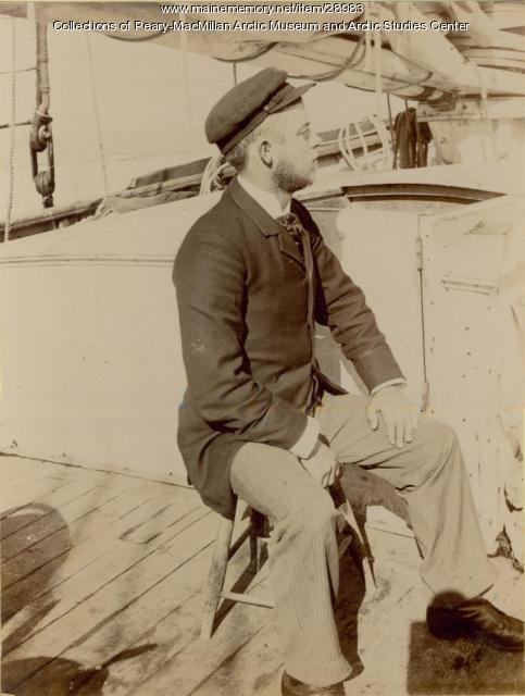 Ralph H. Hunt aboard the 'Julia A. Decker,' Nova Scotia, 1891