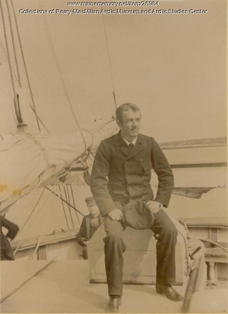 Walter R. Hunt aboard the 'Julia A. Decker,' Nova Scotia, 1891