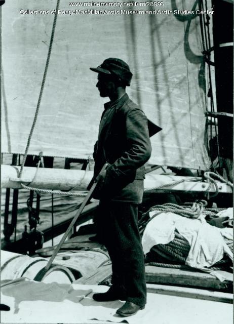 Mervyn A. Rice aboard the 'Julia A. Decker,' 1891