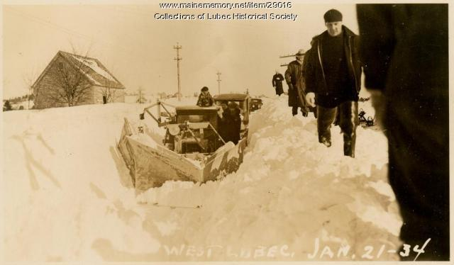Blizzard, Lubec, January 21, 1934
