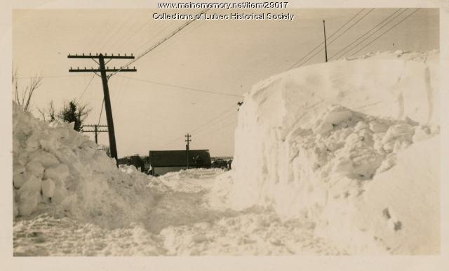 Blizzard, Lubec, January 1934