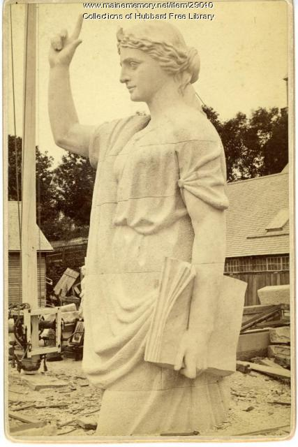 """Statue of Faith"" for Plymouth, Hallowell Granite Company, 1877"