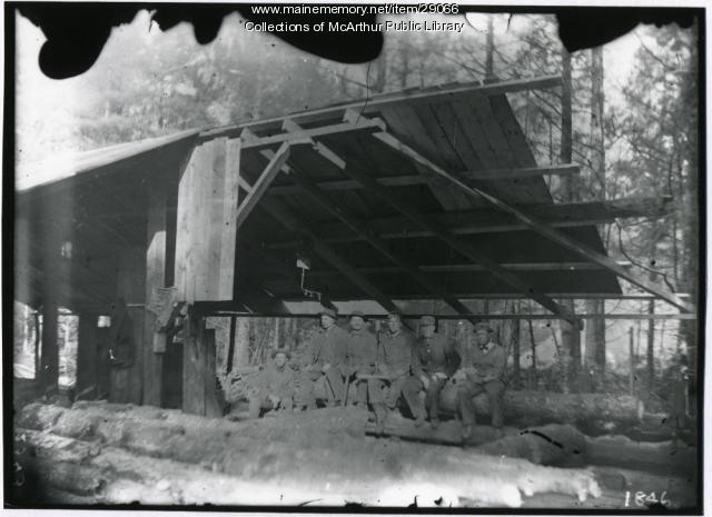 Sawmill Crew, possibly Biddeford, 1908