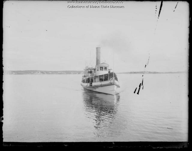 Steamship at Boothbay Harbor, ca. 1900
