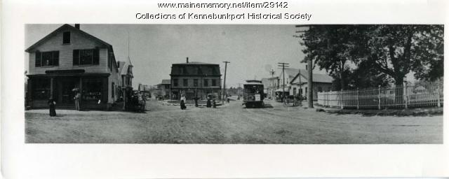 Panorama of Dock Square, Kennebunkport, ca. 1900