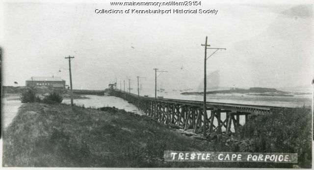 Cape Porpoise Trestle and Casino, ca. 1900-1914