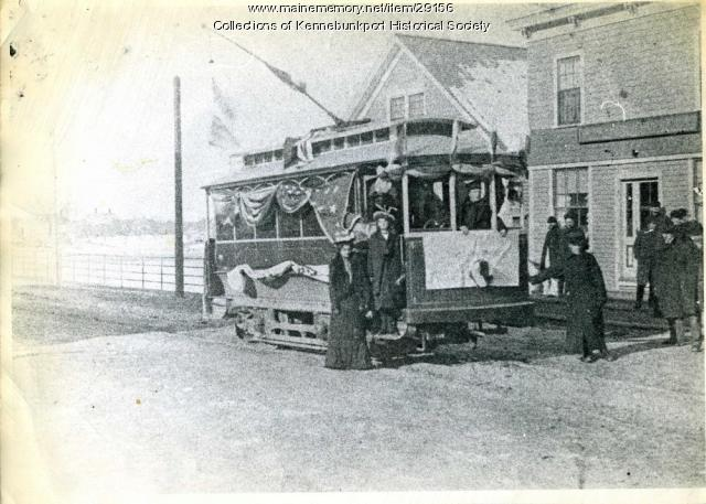 Rose Seavey Trolley Trip, Kennebunkport, 1901