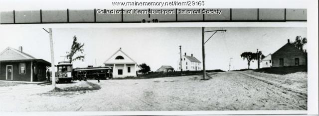 Panorama of Town House Corners, Kennebunkport, ca. 1904