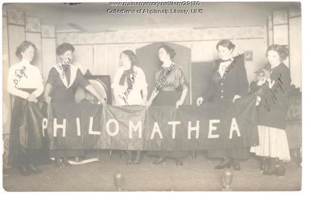 Philomatheon Club, Westbrook Seminary, ca. 1911