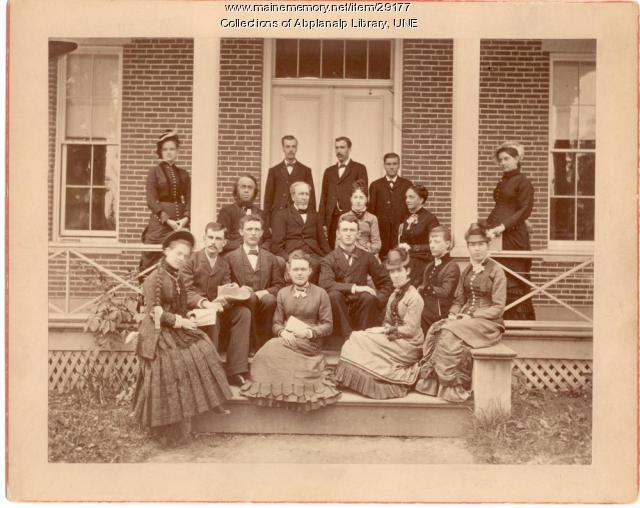 Teachers and Senior Class, Westbrook Seminary, June 1880
