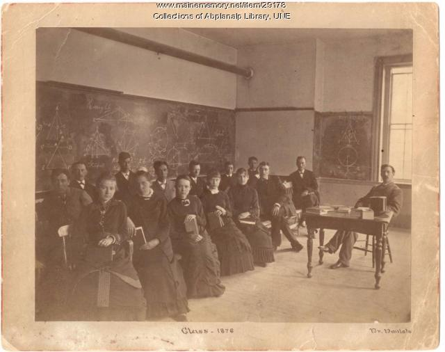 Dr. J. William Daniels and Westbrook Seminary geometry class, Portland, 1876