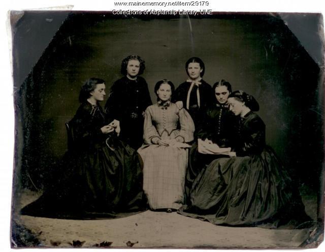Westbrook Seminary students, ca. 1855