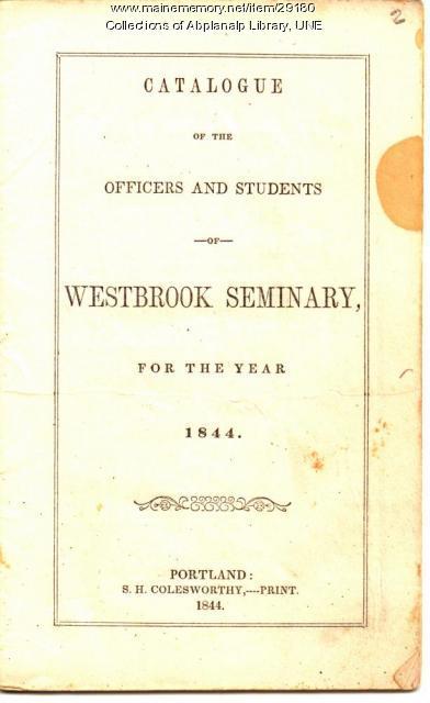 Westbrook Seminary Catalogue, 1844