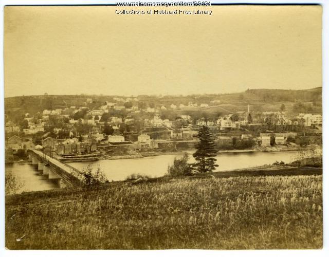 Hallowell viewed from Chelsea, Hallowell Chelsea Bridge, ca. 1865
