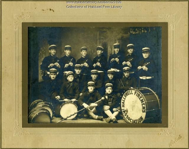 Hallowell Firemen's Association Band, Hallowell, ca. 1890