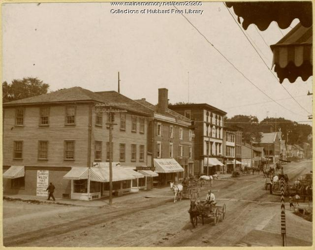 Water Street, Hallowell, ca. 1890